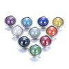 10pcs lot random Styles Charms 12 mm Glass SnapButton For DIY Bracelet Snaps Jewelry Wholesale cheap TZB30061
