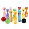 2018 Mini Cartoon Wooden Bowling Ball Game Cute Animal Shape Kids Children Toy Creative Development Sports Toys Gift