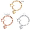 love bracelet Fashion Exquisite Designer Bracelet Link Chain Polishing Crystal Gold Sliver Rose Gold Wrist Bracelet Trendy Heart