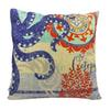 Botique Linen Cotton Blended Throw Pillow Case (Octopus Pattern)