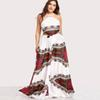 2018 Plus Size Printed Dress Women Holiday Sleeveless Ladies Halter Neck Maxi Long Summer Beach Dress Size Swimwear for women FS5745
