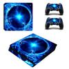 Colorful Vinyl For PS4 Slim Sticker For Sony Playstation 4 Slim Console+2 controller Skin Sticker For PS4 S Skin ZY-0017
