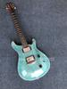 Electric Guitar With Blue Body,Flame Maple Veneer,Silver Hardware,can be Customized