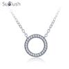 Suplush Brand Fashion Heart Designer Silver Color Circle Necklaces & Pendants Party Jewelry For Women CNL0664