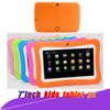 "Hot Kids Brand Tablet PC 7"" Quad Core children tablet Android 4.4 Allwinner A33 google player wifi big speaker protective cover with package"
