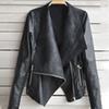 bca7078acebb3 2018 Hot Women s Autumn Winter Cool Biker Motorcycle Jacket Coat Solid Slim Faux  Leather Zipper Jacket Casual Outwear Plus Size