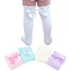 Lovey Baby Girls Knee High Socks Lace Bows Princess Leg Wamers Girls Socks Cotton Knitted Lng Tub For Kids For 1-6 T