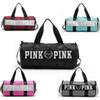 Waterproof Outdoor Fitness Bag Large Capacity Pink Letter Lovely Hand Sport Travel Bag Beach Bag