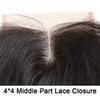 4*4 Middle Part Lace Closure