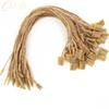 1000 pieces lot jute hemp hang tag string in apparel 20cm jute hang tag string cord for garment price tag label