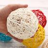 3 10cm 10 Colors Sepak Takraw Wedding Decorative Rattan Ball Christmas Pendant Baby Shower Kids Birthday Home Table Decoration Y18102909