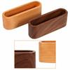 Waterproof Bank Card Holder Wooden Business ID Name Organizer ID Card Case Storage Box Case For Desk Desktop Countertop