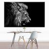 1 Panel black white canvas prints art lion roaring canvas oil art painting wall pictures for home decor wall art prints No Frame