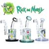 glass bong oil rig Rick & Morty water bongs female 14.5mm dab rigs with quartz banger