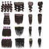 Unprocessed Brazilian Virgin Hair Kinky Curly Deep Water Body Wave 4 Bundles With 4x4 Lace Closure Or 13x4 Lace Frontal Closure Hair Bundles