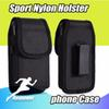 Sport Nylon Leather Holster Belt Clip phone Case For Universal Cover Pouch for Samsung Huawei S9 Plus iphoneXS X 7 8 Plus