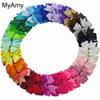 Myamy 40pcs Lot 3 Baby Girl Grosgrain Ribbon Boutique Hair Bows With Alligator Clips Pinwheel Bow For Children Kids Headwear