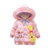 Winter Coat For Baby Giraffe Jacket Winter Baby Flower Embroidery Girl Clothes Cute Ruffle Hooded Coats 2018