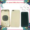 Newest Back Housing For iphone 8 8 Plus Glass Material Battery Back Cover Side Button+SIM Tray Back Frame Replacement Rear Door Case DHL