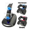 Wholesale-LED Dual Charger Dock Mount USB Charging Stand For PlayStation 4 PS4 Xbox One Gaming Wireless Controller With Retail Box OTH775