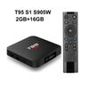 10PCS T95 S1 2GB 16GB Google voice control android 7.1 tv box S905W support StbEmu Youtube Netflix