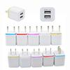 Dual Wall Charger USB Port US EU Plug Home Travel Chargers Power Adapter wall chargers 5v 1a 2.1a For iphone X 8 Plus Smartphone