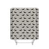 Natural Olivia Printed little Dog Pattern Waterproof fabric Polyester Bath Curtain