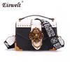 EISWELT Metal Lion Head Mini Small Square Pack Shoulder Bag Crossbody Package Clutch Women Designer Wallet Handbags Bolsos Mujer