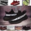 the latest 9d97d 8bef3 2018 newest Kanye West Runner 350 v2 Sply White Black fashion Running  sneaker sports shoes for men women size5 -11
