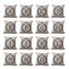 A-Z 26 English Letter Initials Pillow Case Cushion Cover Linen Cotton Throw Pillowcases Sofa Car Pillowcover Free DHL 160