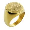 Valily Jewelry Mens Ring Simple Design Compass Ring Gold Stainless Steel fashion Black Band Rings For Women Men Navigator Rings