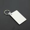 Wholesale 100pcs MDF Blank Key Chain Rectangle Sublimation Wooden Key Tags For Heat Press Transfer Photo Logo Thermal printing Gift-freeship