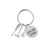 Love you Daddy Repair Tools Keychain,Screwdriver Hammer Spanner Charm Key Chain Ring for Dad,Fathers Day Gift key rings