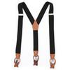 Genuine Leather Suspenders Fashion Braces Man's Suspenders Buttons Suspensorio Trousers Strap Father Husband's Gift 3.5*120cm