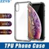 ZZYD For iPXR XS MAX X 8P Samsung S8 S9 Note 9 TPU Phone Case Clear Transparent Shockproof Cover