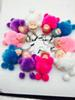 Hot Selling New Mini Sleeping Baby Keyring Pendant Fur Ball Pendants Keychain Car Key Ornaments Bags Ornaments Pendant 7.5cm Doll Keychains