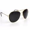 Gold Plated New Style Metal Pinhole Glasses Exercise Natural Healing Vision Improve Myopia Hyperopia Presbyopia Cataracts