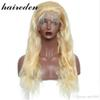 Body Wave 613 Blonde Full Lace Front Human Hair Wigs Remy Brazilian Wig 130 % Density With Baby Hair Bleached Knots