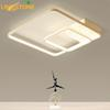 Led Square Ceiling Lamps for Living Room Kitchen Flush Mount Modern Ceiling Lights with Remote Control Indoor Lighting Fixtures
