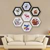 Photo Frame Hexagon Picture Frame Wall Wedding Family Picture Display Vintage Photo Frames Holder Home Decor