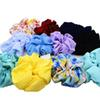 6 Pcs lot NEW Colored Cloth Fabric Elastic Hair Ropes Girls' Scrunchies Women Hair Ties Accessories PT070