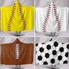 New Baseball Softball And Football Poncho For Children Adult Boys Outerwear Blouses Hoodies Clothes XMAS Warm Wrap Shawl Cape Coat HH7-963