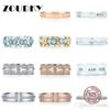 DORAPANG 100% 925 Sterling Silver Ring Genuine Classic Sign T-Zircon Charm Ring Rose Gold Women's Gift Original Jewelry