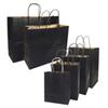20 Pcs lot Gift Bags With Handles Multi-function High-end Black Paper Bags 6 Size Recyclable Environmental Protection Bag