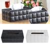 Napkin Paper Cover Rectangle Case Room Kitchen Car PU Leather Tissue Box Holder Home Car Napkins Holder Home Organizer Decor