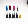 1pcs Lipstick Shape Gel Pen Black Ink Refill 0.5 Mm Gel Ink Pens Papelaria Kawaii School Stationery Escolar School Supplies