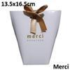 화이트 메르퀴 13.5 * 16.5cm