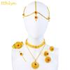 whole saleEthlyn Luxury Ethiopian Eritrean Traditional Jewelry Choker Sets Gold Color Stone Wedding Jewelry Sets Women S097