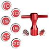 Golf Custom Circle red Scotty Deluxe Tour Style X5R Weights For Golf Cameron Putters 2pcs weights+Convertible wrench
