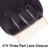 4*4 Three Part Lace Closure